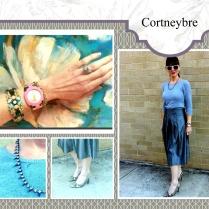 Winter Blues & Greys...my repurposed grey skirt