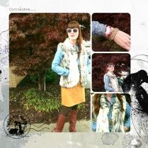 Shirt - Worthington JC Penney Skirt -MNG by Mango Boots - Nine West Vest - Bedford Cottage Watch - Kate Spade Bracelets: Danish Design
