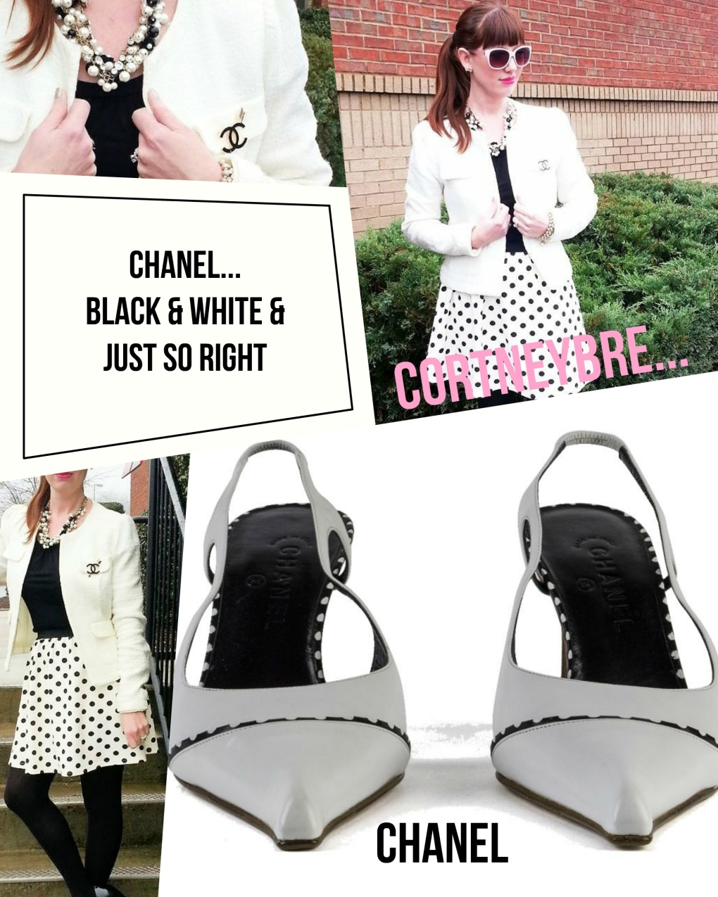 Blouse: Worthington Skirt: DH Styles Shoes: Chanel Jacket: Monteau Jewelry: Bealles
