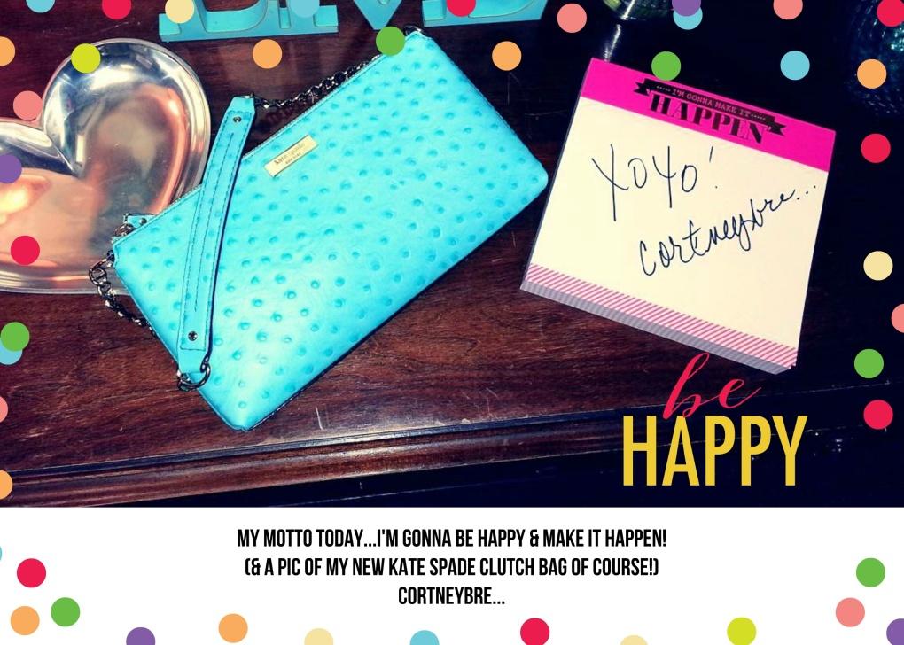 Be Happy! Notepad: Roobee by Mara-mi Bag: Kate Spade