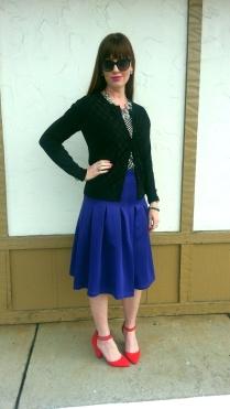 Necklace: JCREW Blouse: Gap Cardigan: Banana Republic Skirt/Shoes: ASOS