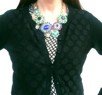 Necklace: Banana Republic Blouse: Gap Cardigan: Banana Republic