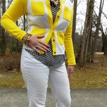 Cardigan: Crown & Ivy Blouse: Gap Jeans: Madison Shoes: Kate Spade Necklaces: JCREW Sunglasses: Colehaan