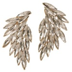 Luxe Wing Crystal Earrings