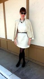 Blazer: George Dress: Xhilaration Necklaces/Earrings/Bracelet: Bealles Watch: Kate Spade Shoes: JCREW