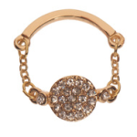 Gold Pave Disc Knuckle Ring