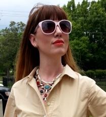 Dress: JCREW Shoes: Banana Republic Necklace: Bealles Watch: Kate Spade Belt: Gap Sunglasses: UnionBay