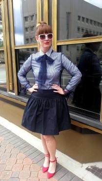 Lace Overlay: Rodarte for Target Shirt: Banana Republic Skirt: Tara Jarmon Shoes: ASOS Sunglasses: Unionbay