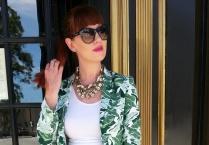Jacket: Joie Camisole: Worthington Sunnies: Franco Sarto Pants: Banana Republic Heels: Ralph Lauren Belt: JCREW Watch/Bag: Kate Spade