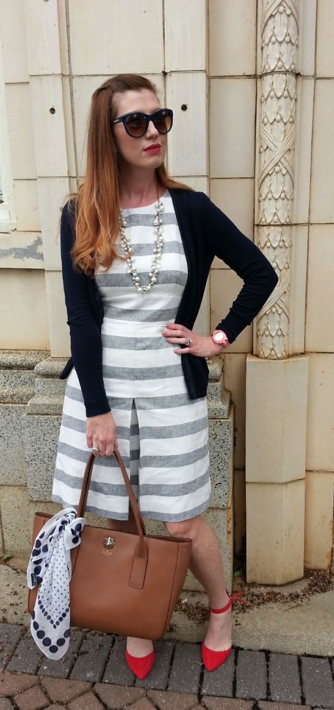 Dress: JCREW Shoes: ASOS Necklace: Chloe+Isobel Sunnies: Franco Sarto Bag: Kate Spade
