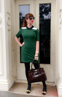 Dress: Kate Spade Saturday Bag: Kate Spade New York Heels: Mossimo Sunnies: Franco Sarto