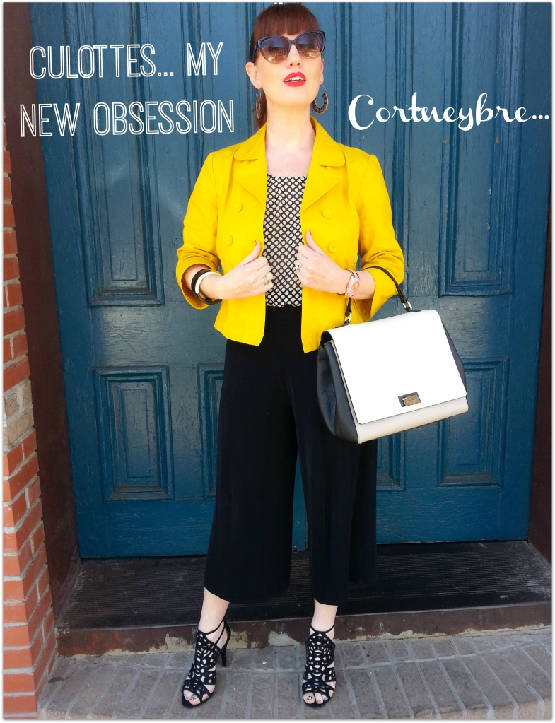 Culottes: New Directions Belk Blouse: Gap Jacket: Old Navy Bag: Kate Spade NY Shoes: BCBG
