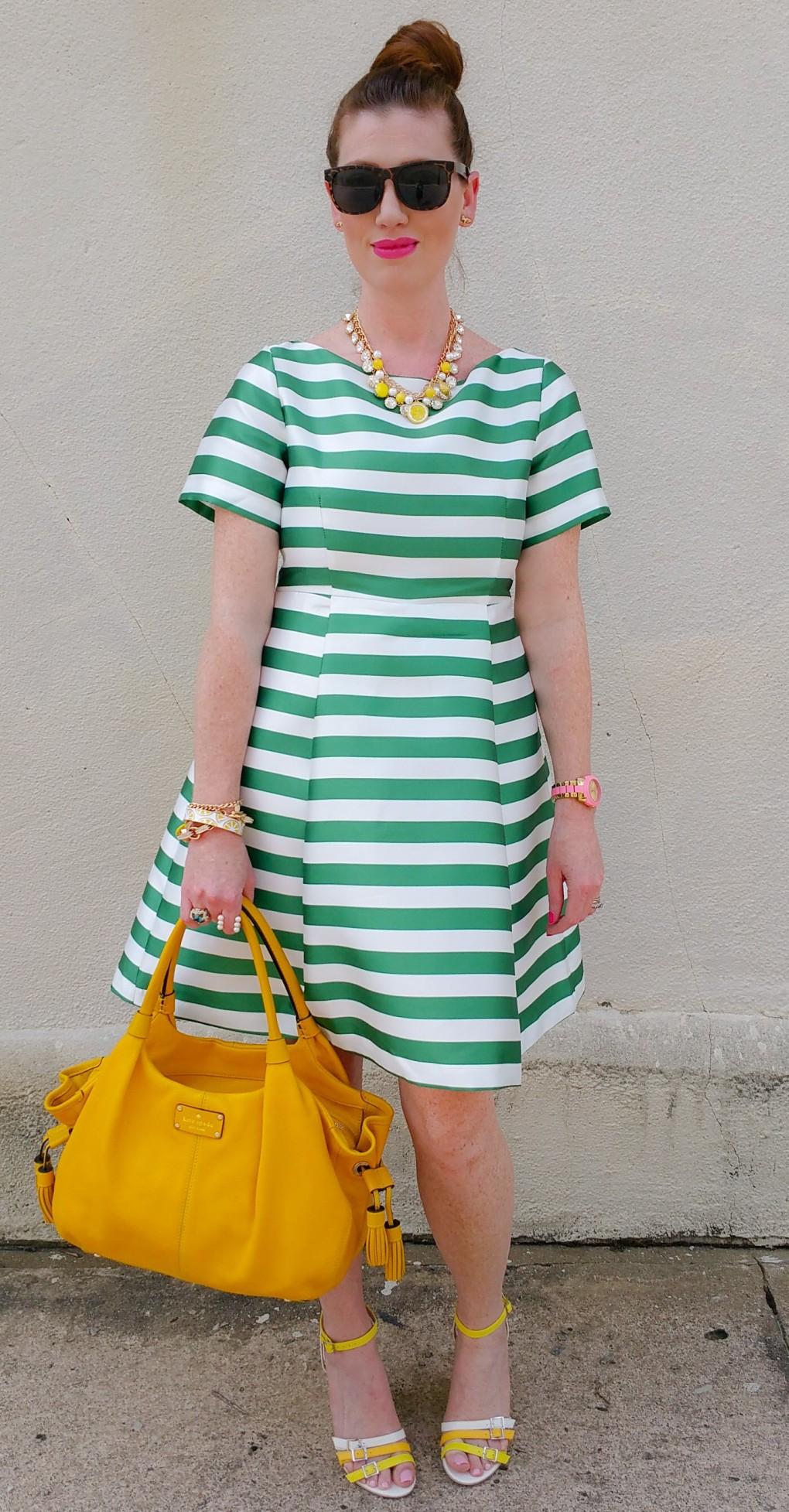 Dress: Kate Spade NY Bag: Kate Spade NY Wedges: ShoeDazzle Madison Jewelry: Charming Charlie