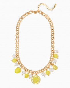 summer lemon necklace